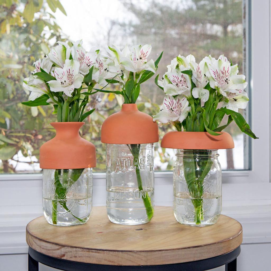 Terracotta Vase Collars - Set of 3