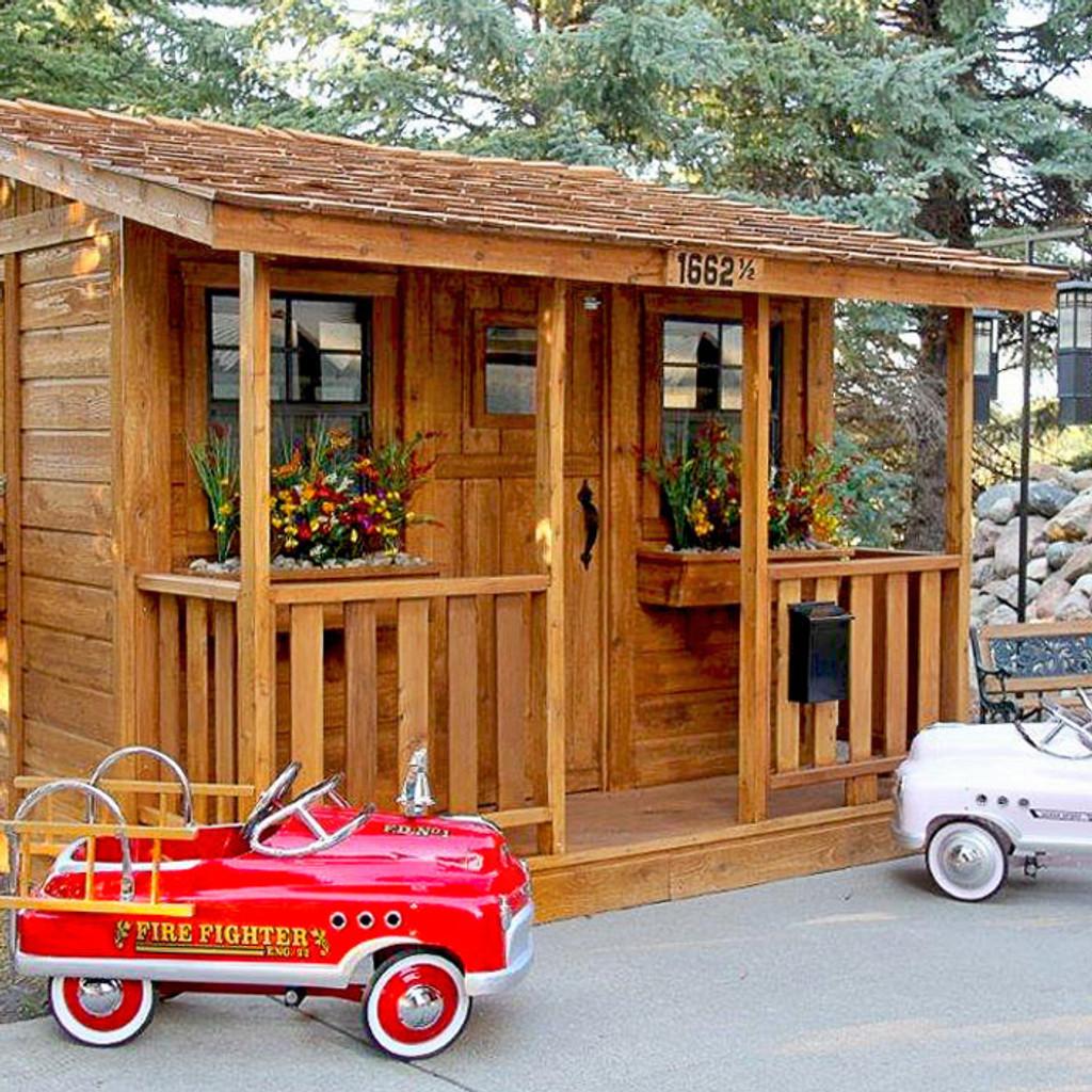 7' x 9' Cedar Cabin Playhouse