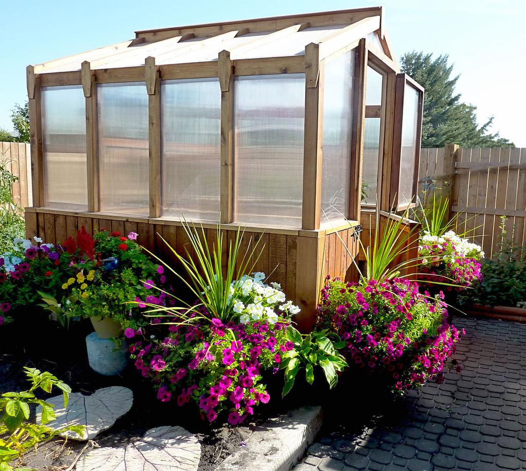 8' x 8' Cedar Greenhouse