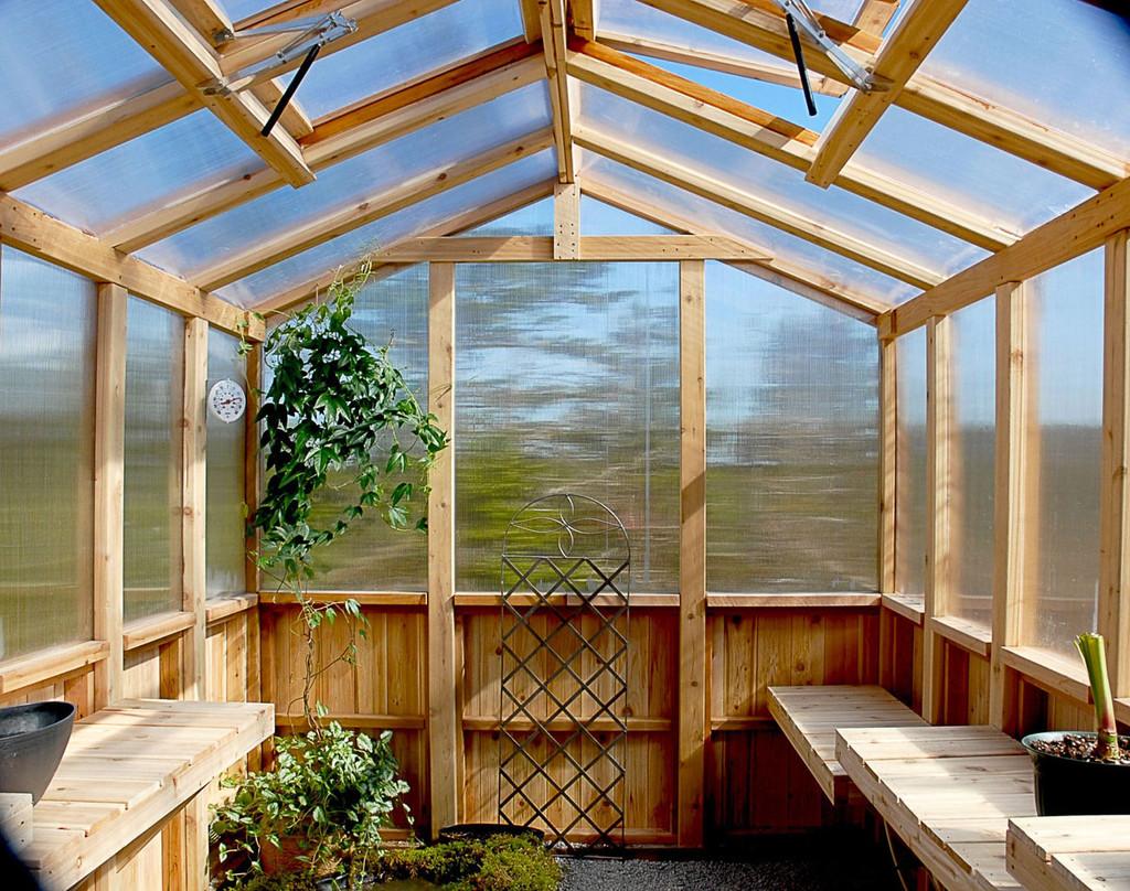 8' x 12' Cedar Greenhouse