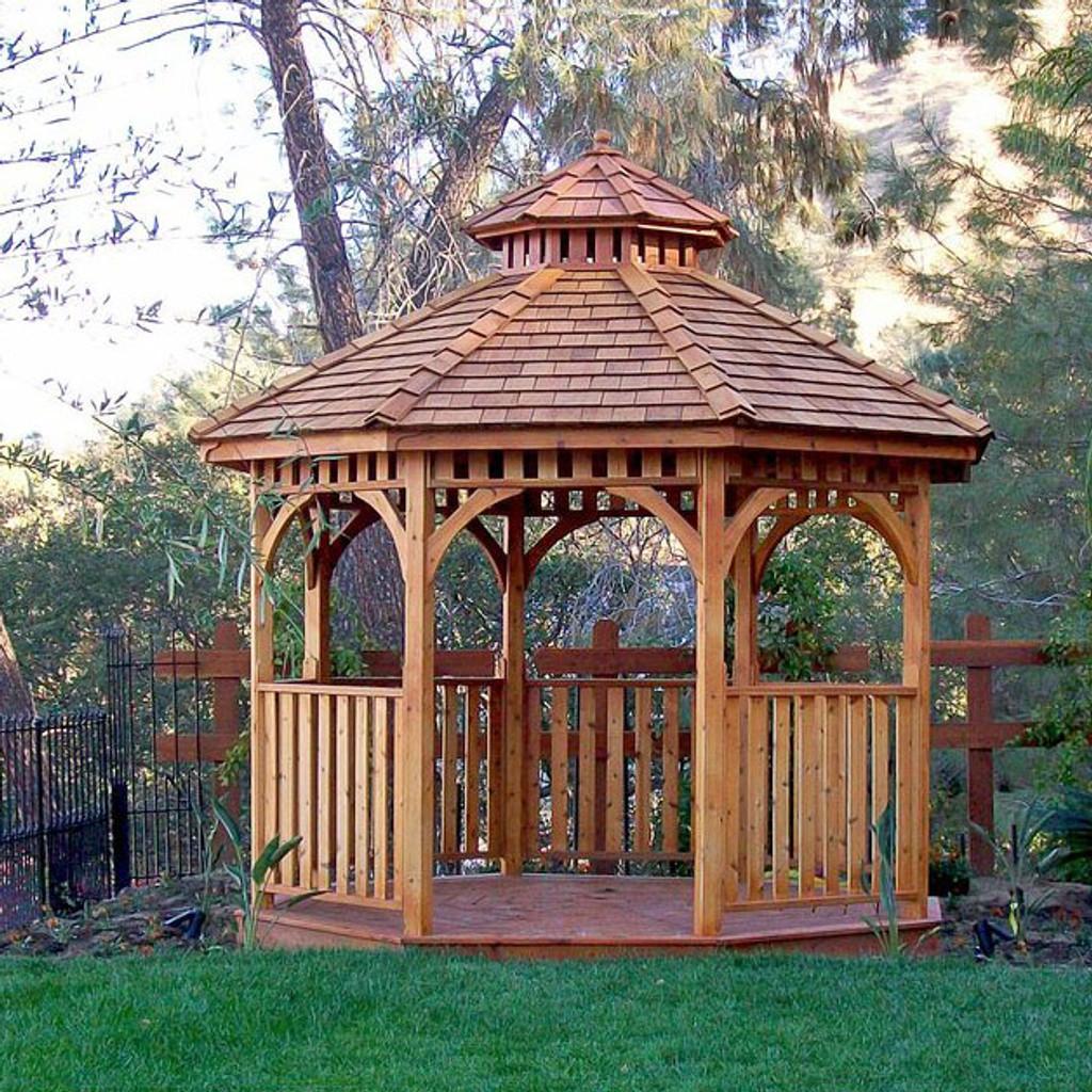 10' Cedar Panelized Octagon Gazebo