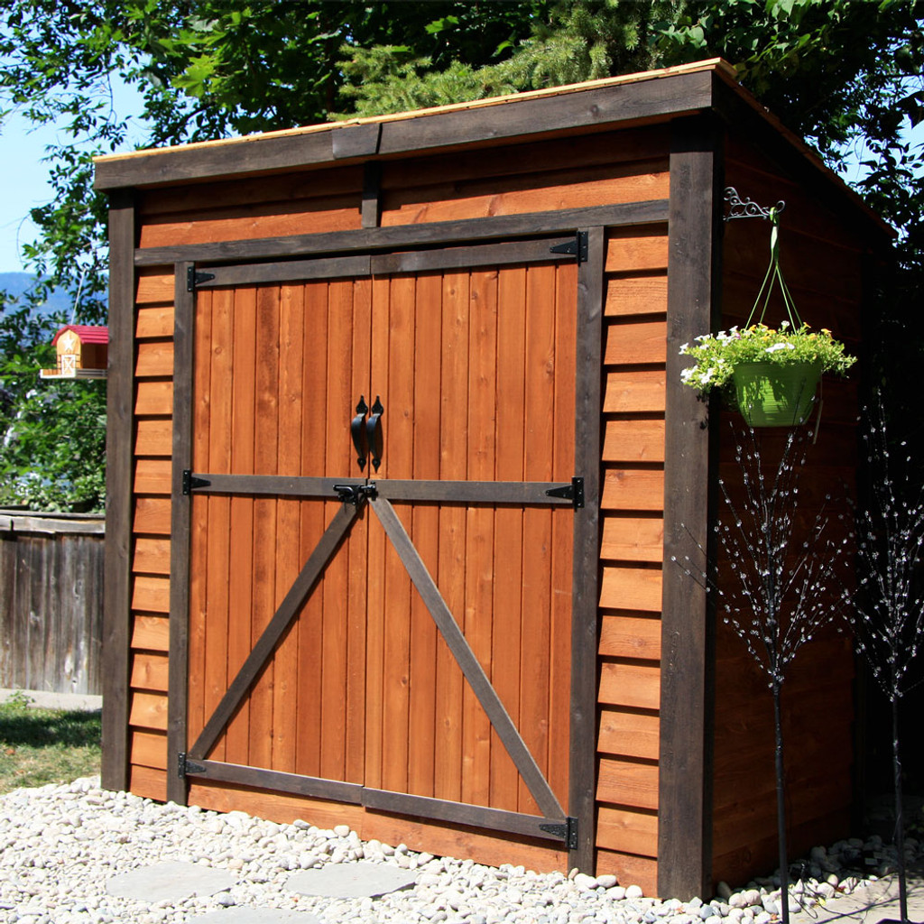 8' x 4' GardenSaver Storage Shed - Double Doors