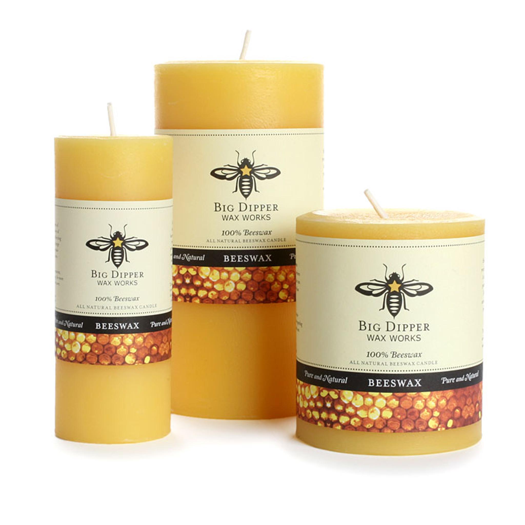 Pure Beeswax Pillars Eartheasy Com