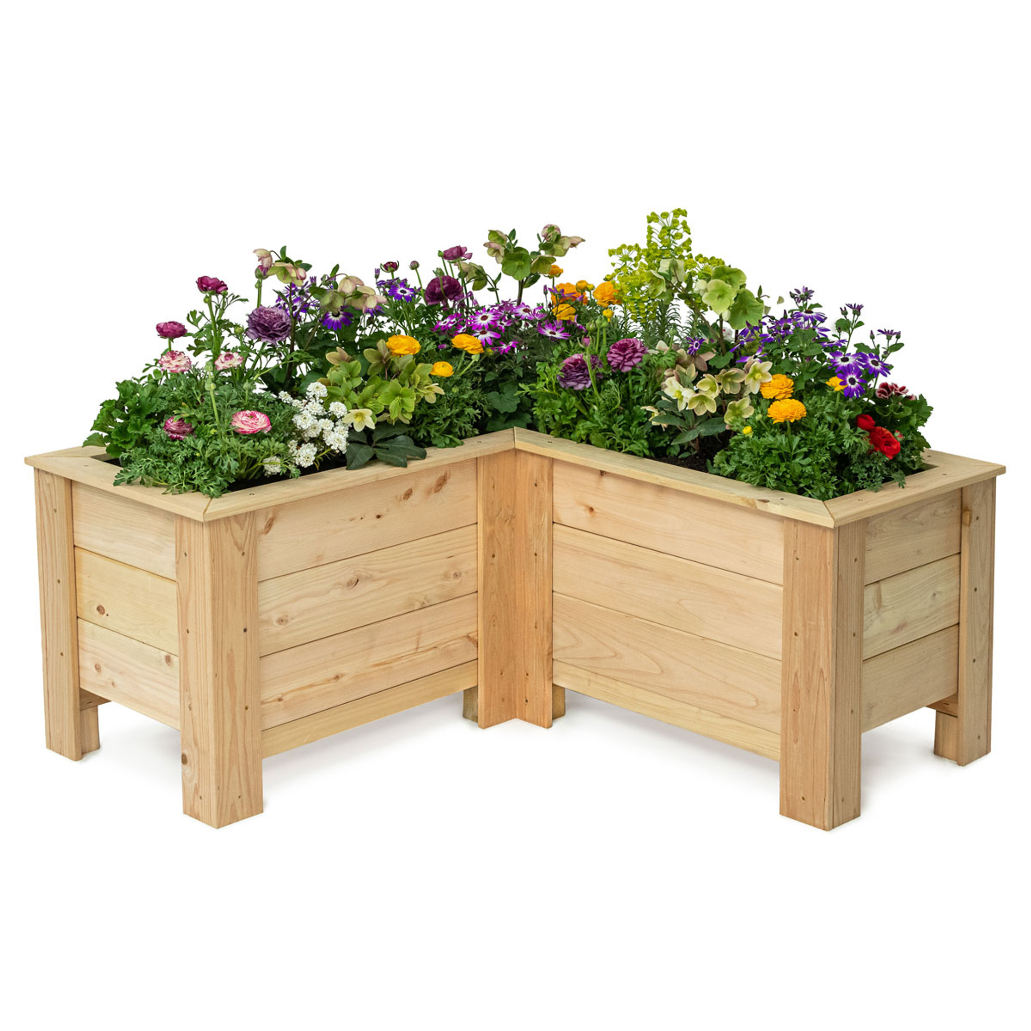 Natural Cedar L Shaped Planter Boxes Eartheasy Com