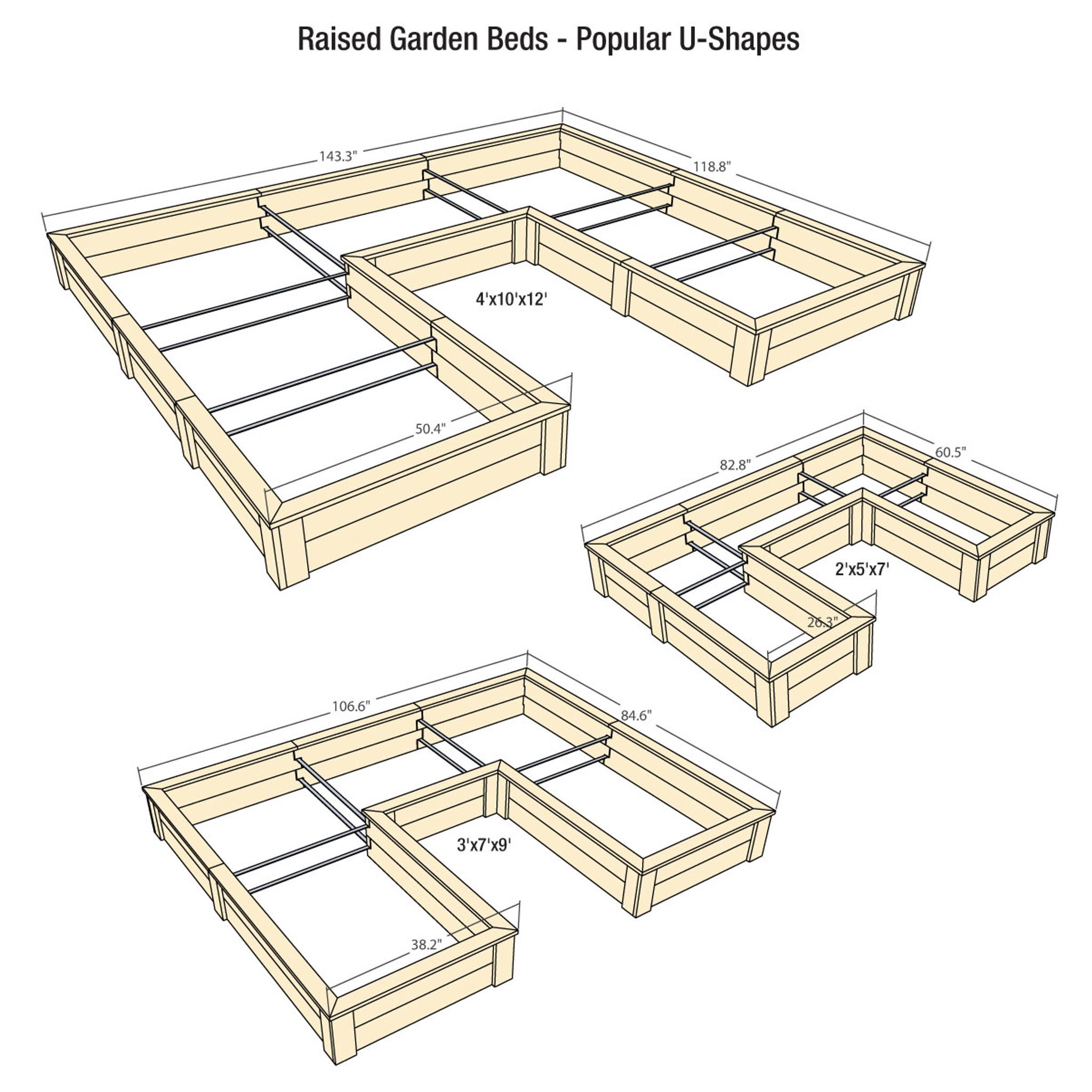 Natural Cedar U Shaped Raised Garden Beds Eartheasy Com