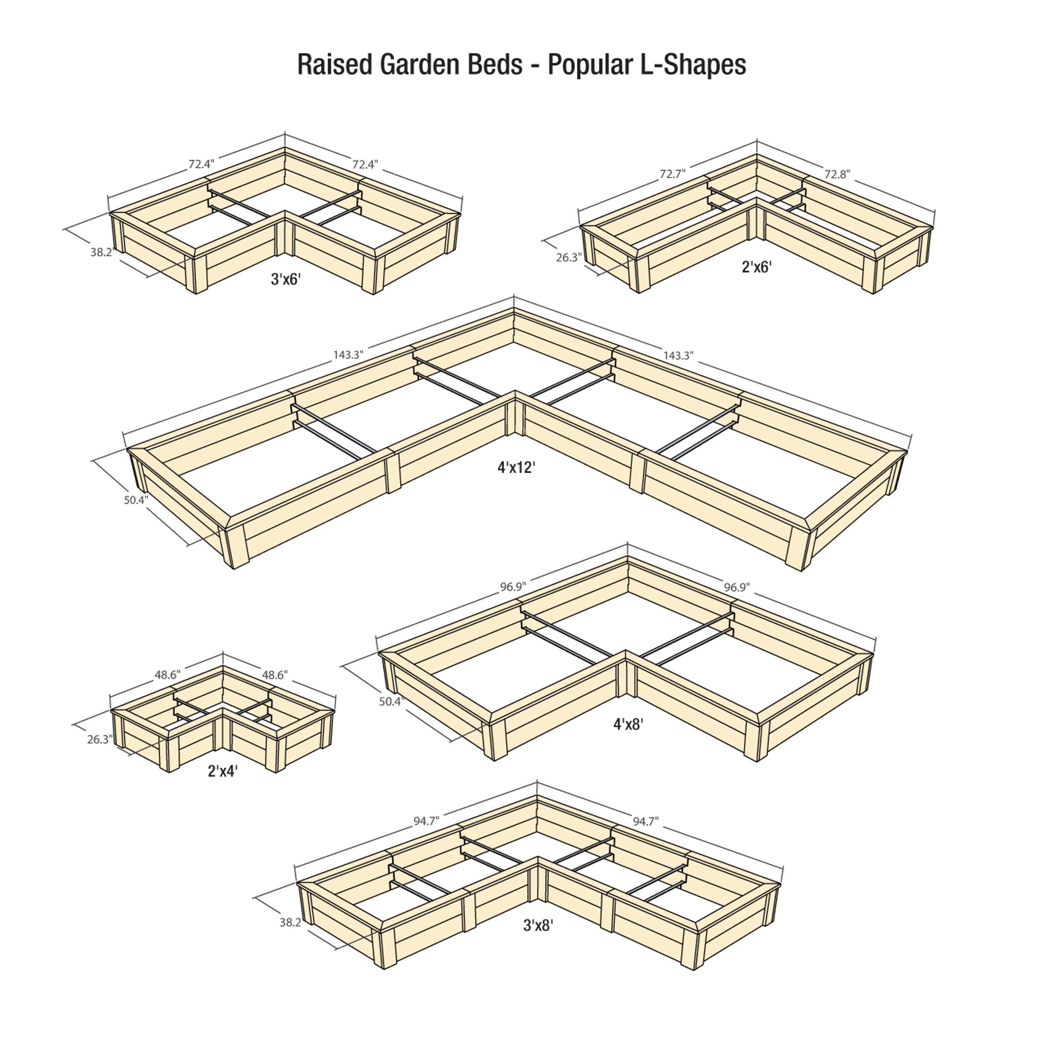 Natural Cedar L Shaped Raised Garden Beds Eartheasy Com