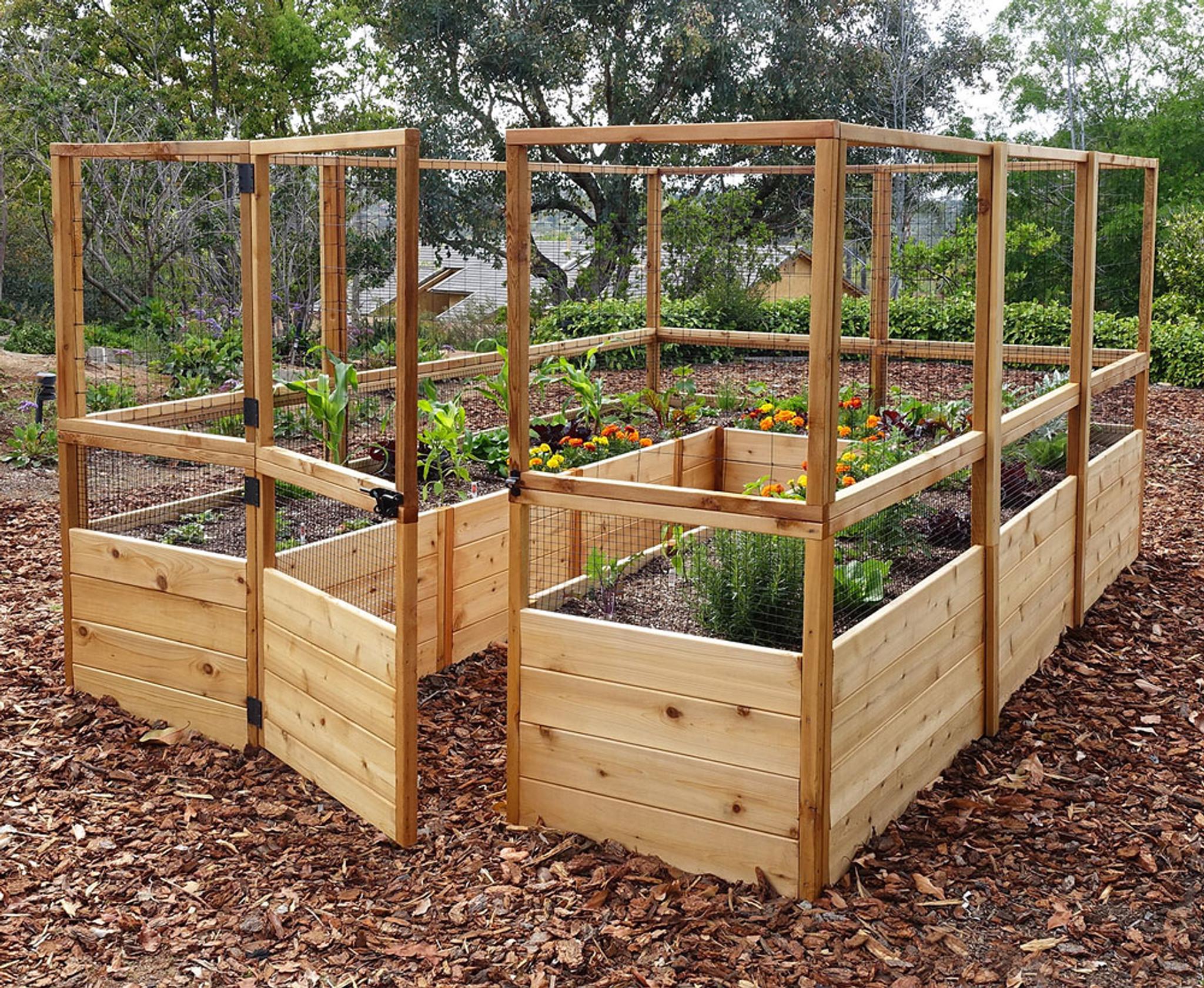 Deer Proof Cedar Complete Raised Garden Bed Kit 8 X 12