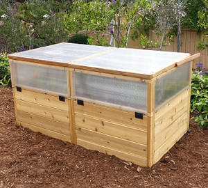 3' x 6' Raised Garden Bed Mini Greenhouse Kit