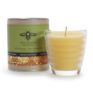 Beeswax Aromatherapy Candle - Meditation
