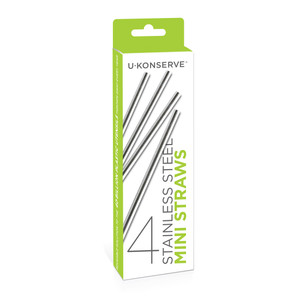 Stainless Steel Mini Straws 4-Pack