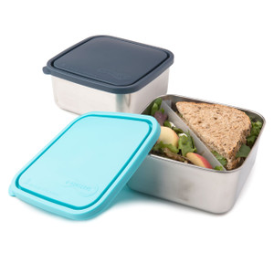 Divided Stainless Steel To-Go Container - Large