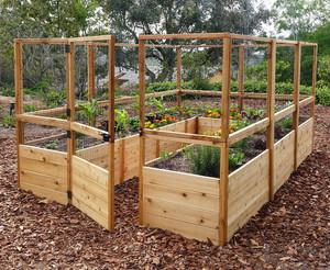 Deer Proof Cedar Complete Raised Garden Bed Kit - 8' x 12'