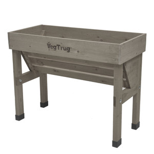 VegTrug Wallhugger Raised Garden Planter - Grey