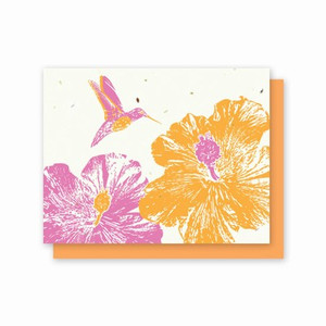 Grow-A-Note Hummingbird Hibiscus Box Set - 5 Cards