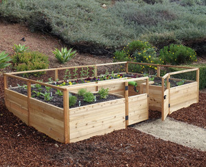Cedar Complete Raised Garden Bed Kit - 12' x 8'