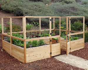 Deer Proof Cedar Complete Raised Garden Bed Kit - 12' x 8'