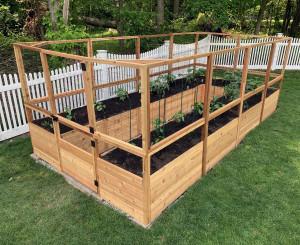 Deer Proof Cedar Complete Raised Garden Bed Kit - 8' x 16'