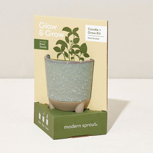 Glow & Grow Candle Herb Planter Kit