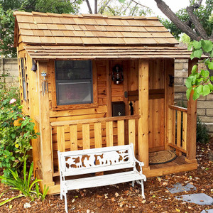 6' x 6' Little Cedar Playhouse
