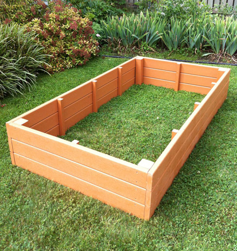 Recycled Plastic Raised Garden Bed 3 X 6 X 16 5 Eartheasy Com