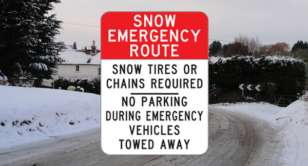 R7-203-1  -  Snow Emergency Route  -  18x24