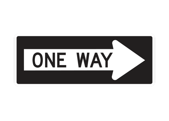 R6-1R  -  ONE WAY RIGHT  -  36X12