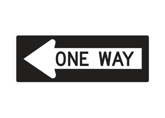 R6-1L  -  ONE WAY LEFT  -  36X12