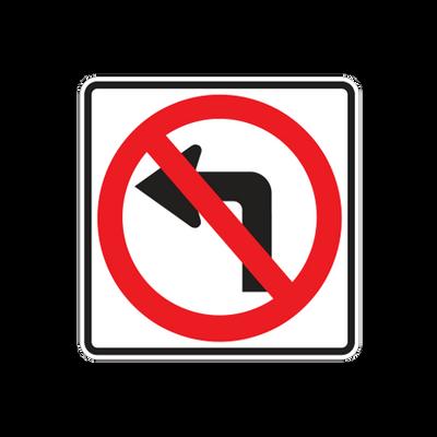 R3-2  -  NO LEFT TURN SYMBOL