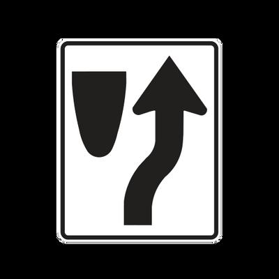 R4-7  -  KEEP RIGHT  -  24X30