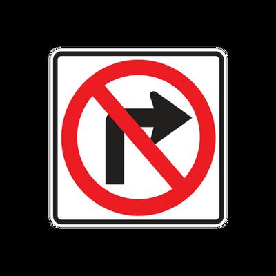 R3-1  -  NO RIGHT TURN SYMBOL