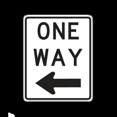 R6-2L  -  ONE WAY LEFT  -  18X24