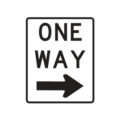R6-2R  -  ONE WAY RIGHT  -  18X24