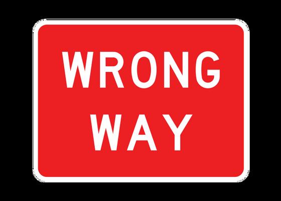 R5-1A  -  WRONG WAY  -  36X24