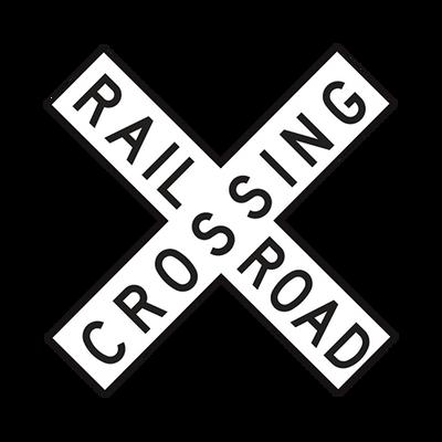 R15-1  -  RAILROAD CROSSBUCKS  -  48X9