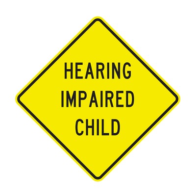 W11-108  -  HEARING IMPAIRED CHILD  -  30X30