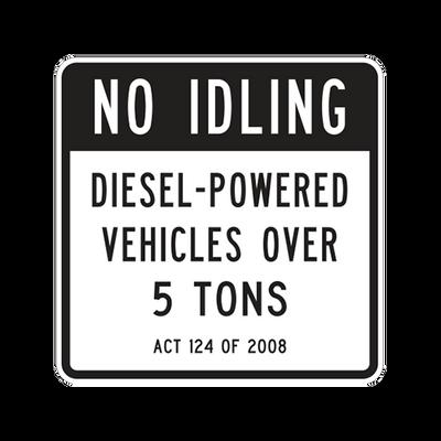 R7-100  -  NO IDLING  -  24X24