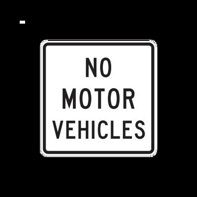 R5-3  -  NO MOTOR VEHICLES  -  24X24