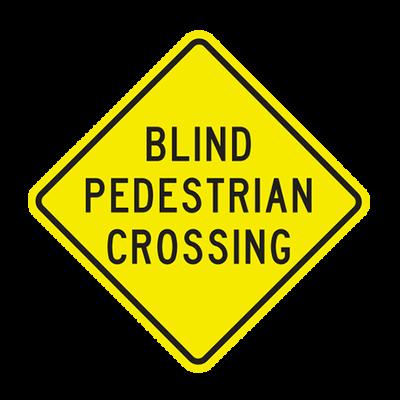 W11-25  -  BLIND PEDESTRIAN XING  -  36X36