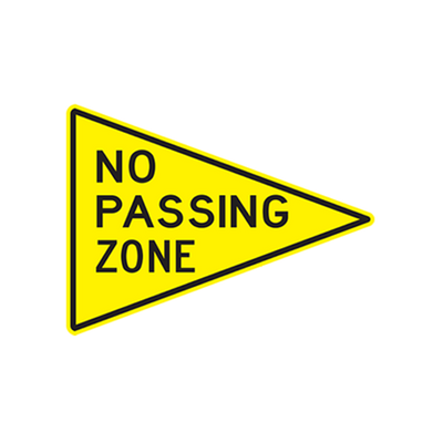 W14-3 - NO PASSING ZONE -48X36