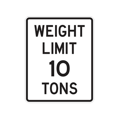 R12-1 - WEIGHT LIMIT 10 TONS - 24x30