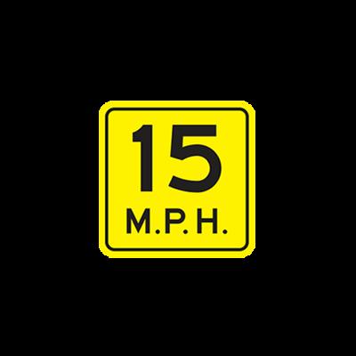 W13-1P - ADVISORY SPEED PLAQUE - 18X18