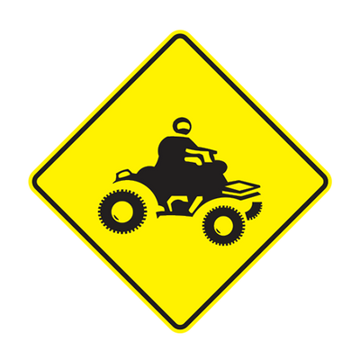 W11-6-1 - ATV CROSSING - 30X30