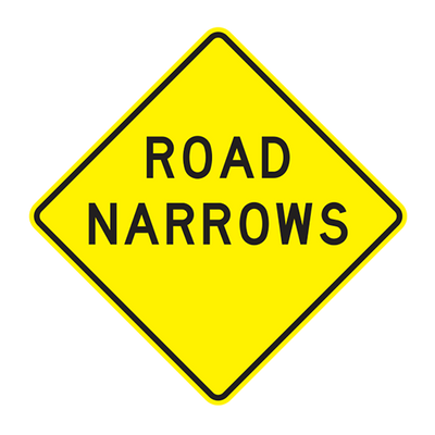 W5-1 - ROAD NARROWS - 36X36