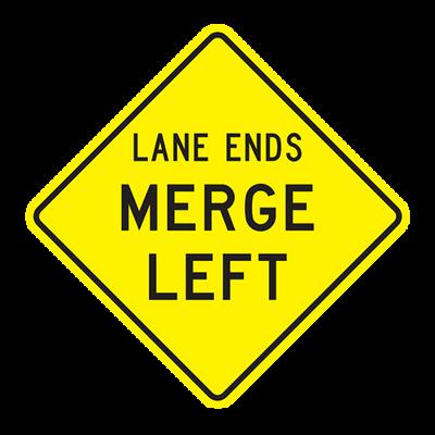 W9-2L - LANE ENDS MERGE LEFT - 30X30