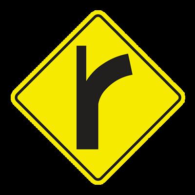 W2-3-1L -CURVE SIDE ROAD LEFT - 30X30