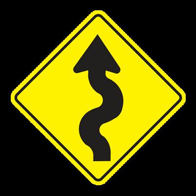 W1-5L - Left Winding Road - 30x30