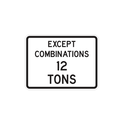 R12-5A - Except Combinations --- Tons - 24x18