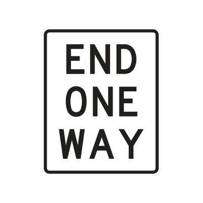 R6-7 - END ONE-WAY - 24X30