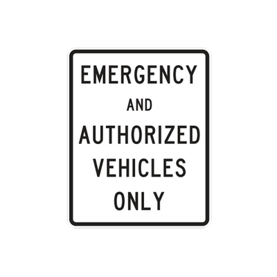 R5-101 - EMERGENCY AND AUTHORIZED VEHICLES - 24X30