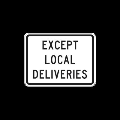 R5-2-3 - Except Local Deliveries - 24x18